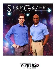 Dean Regas (Cincinnati Observatory) and James C. Albury (Kika Silva Pla Planetarium, Santa Fe College), co-hosts of the PBS TV series Star Gazers