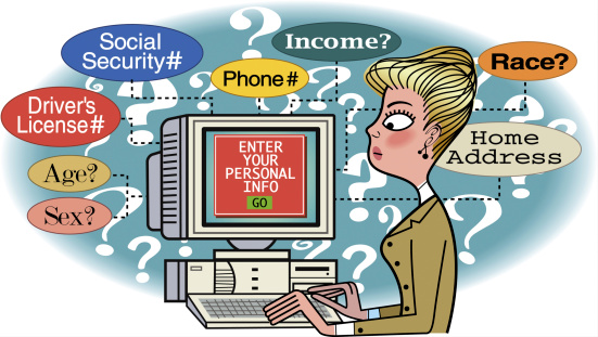 Woman contemplating her online security