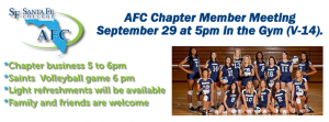 VolleyBall and AFC Member Meeting