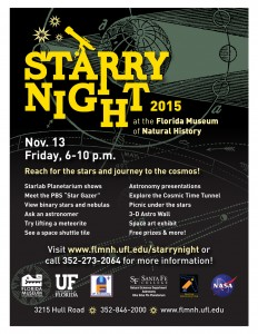 Starry Night 2015 at the Florida Museum of Natural History