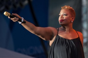 Singer Avery Sunshine sang as she performed. Photo by Joseph Fuqua II for WCPO