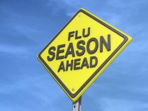 Flu Season Ahead Yield Sign
