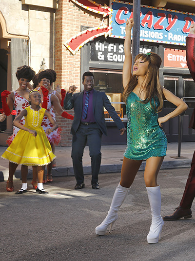 HAIRSPRAY LIVE! -- Season: 2016 -- Pictured: (l-r) Amos Oliver III as Thad, Ariana Grande as Penny Pingleton, (Photo by: Trae Patton/NBC/NBCU Photo Bank)