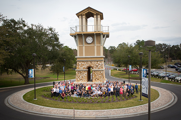 During the Santa Fe Clock Tower Dedication and new Time Capsule placement ceremony on Tuesday, Jan. 17, 2017 in Gainesville, Fla. (Photo by Matt Stamey/Santa Fe College)
