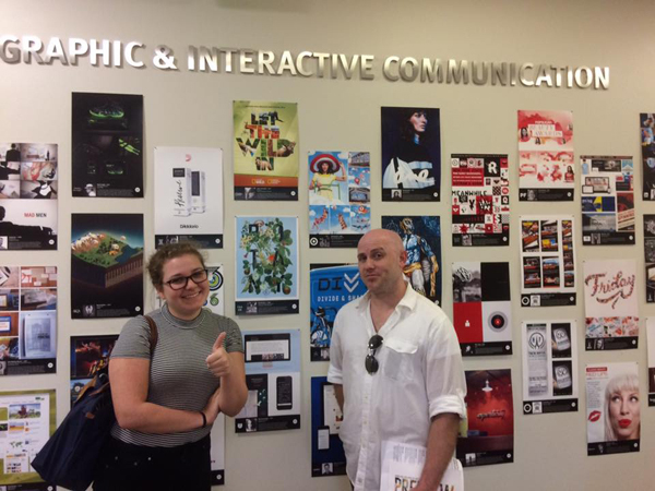 SF students Chelsea Pinholster and Joe Woods at Ringling College of Art & Design. Photo by Art Professor Stacey Breheny.