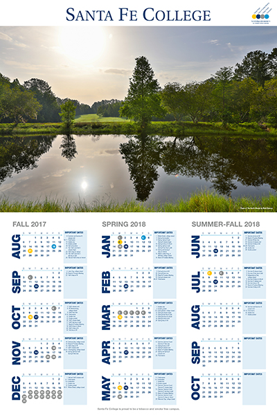The new Santa Fe College Calendar is available in Building P Room 238