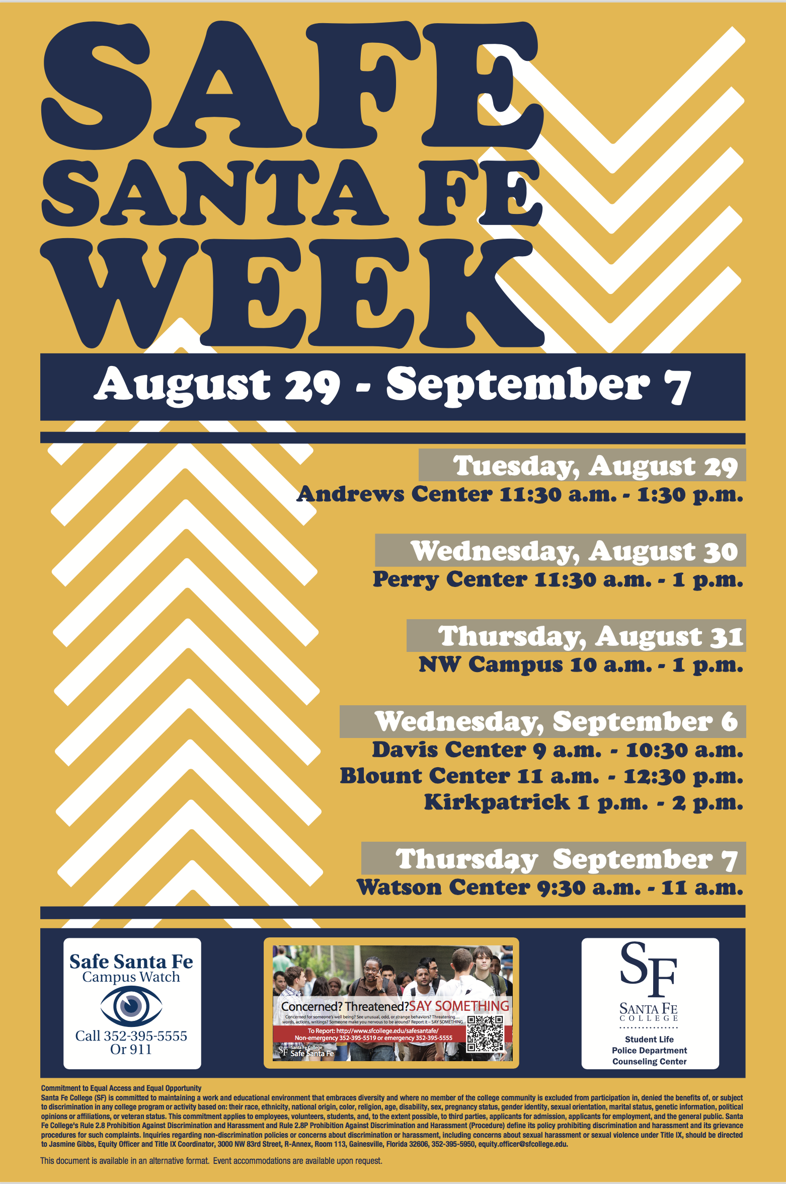 Safe Santa Fe Week begins August 29, 2017
