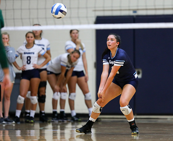 SF Saints Volleyball open conference play Sept 21, 2017