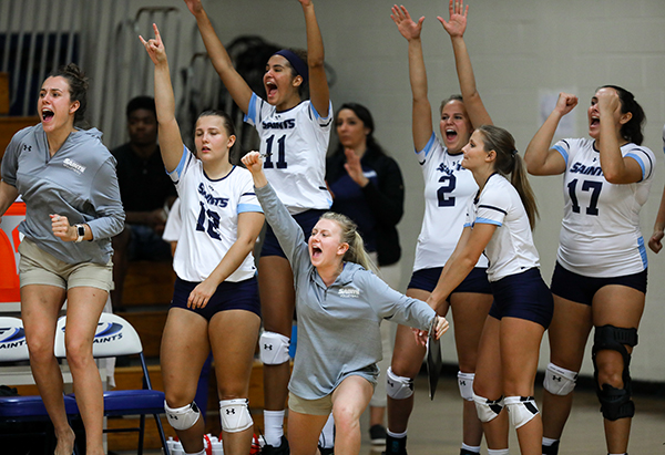 Saints Volleyball has three home games this weekend, Friday at 7 p.m. and Saturday at 10 a.m. and 4 p.m.