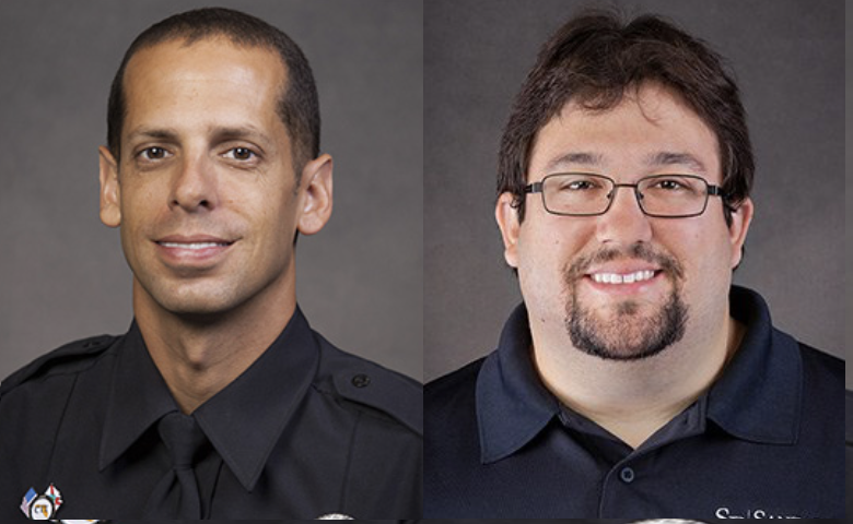 SFPD Officer Christopher Wilson and Dispatcher Benjamin Fox will be honored by the Rotary Club September 20, 2017