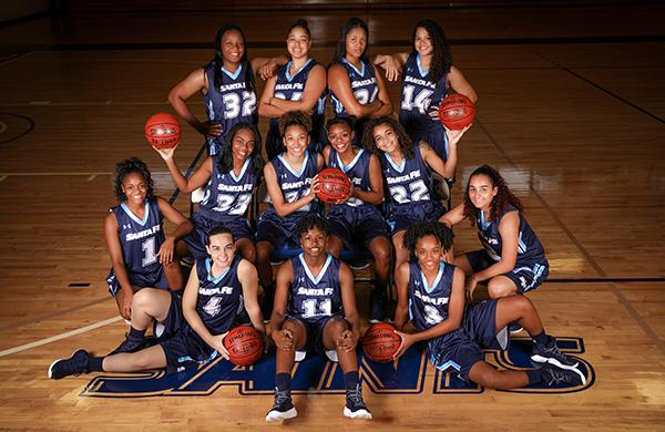 Santa Fe Saints women's Basketball team photo