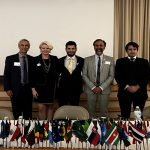 Steve Kalishman, Chantal Hoover, Chris Belibasis, Dr. Leo Villalon and Pablo Vega Figueroa at the UNA-USA Conference