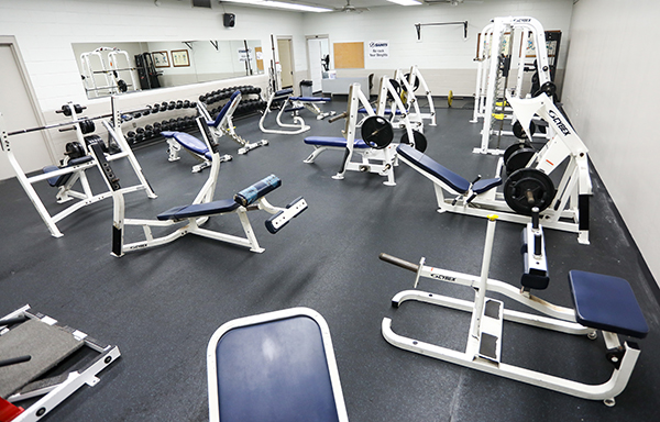 Weight room in SF Fitness Center