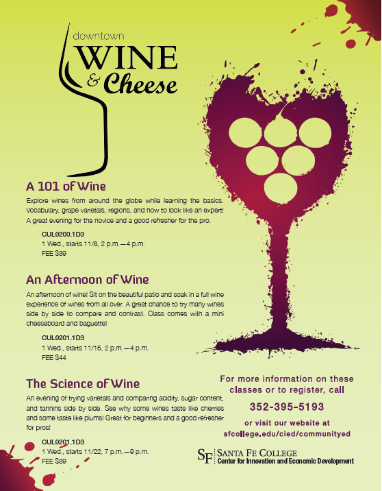 Wine and Cheese Classes at Downtown Wine and Cheese in Gainesville