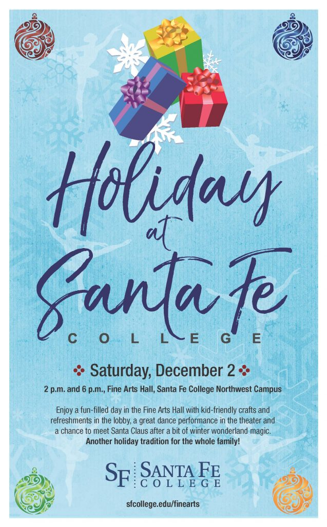 Holiday at Santa Fe - Saturday, December 2, 2017 at 2 and 6 p.m. at the SF Fine Arts Hall