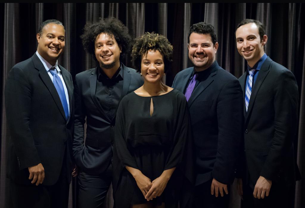 Members of the Harlem Quartet with special guest: Ilmar Gavilan, Aldo Lopez-Gavilan, Melissa White, Jaime Amador and Felix Umansky