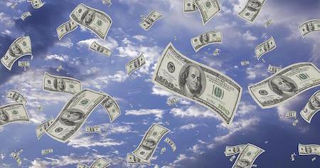money-floating