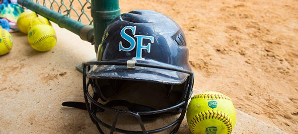 Saints softball batting hemet and softball