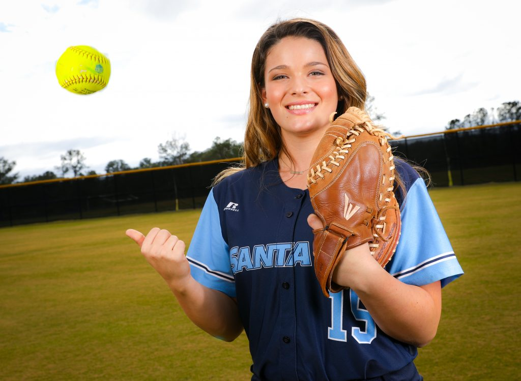 Santa Fe Saints Softball player Emily Yakel