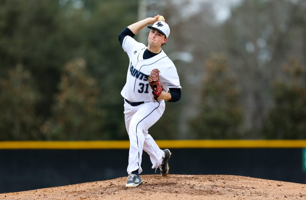 Santa Fe Saints pitcher Max McKinley allowed just one run over six innings to improve to 5-0 on the season.