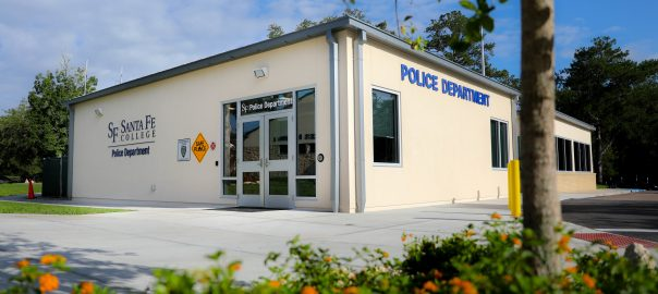 The newly expanded Santa Fe College Police Department building.