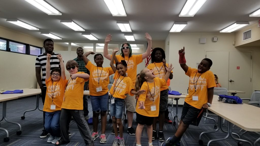 """Students in the """"Jambo! Out of Africa"""" camp at Santa Fe College."""