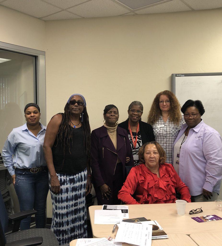 Kimberly Flowers, Nkwanda Jah, Dr. Karen Cole-Smith, Diane Johnson, Dr. Vivian Haynes, Carolyn Das, Belinda Smith