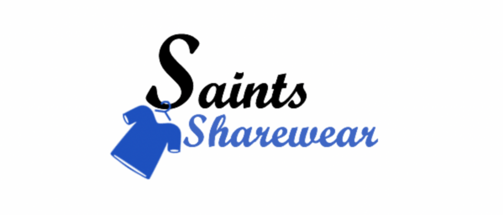 Saints Sharewear long logo for featured image