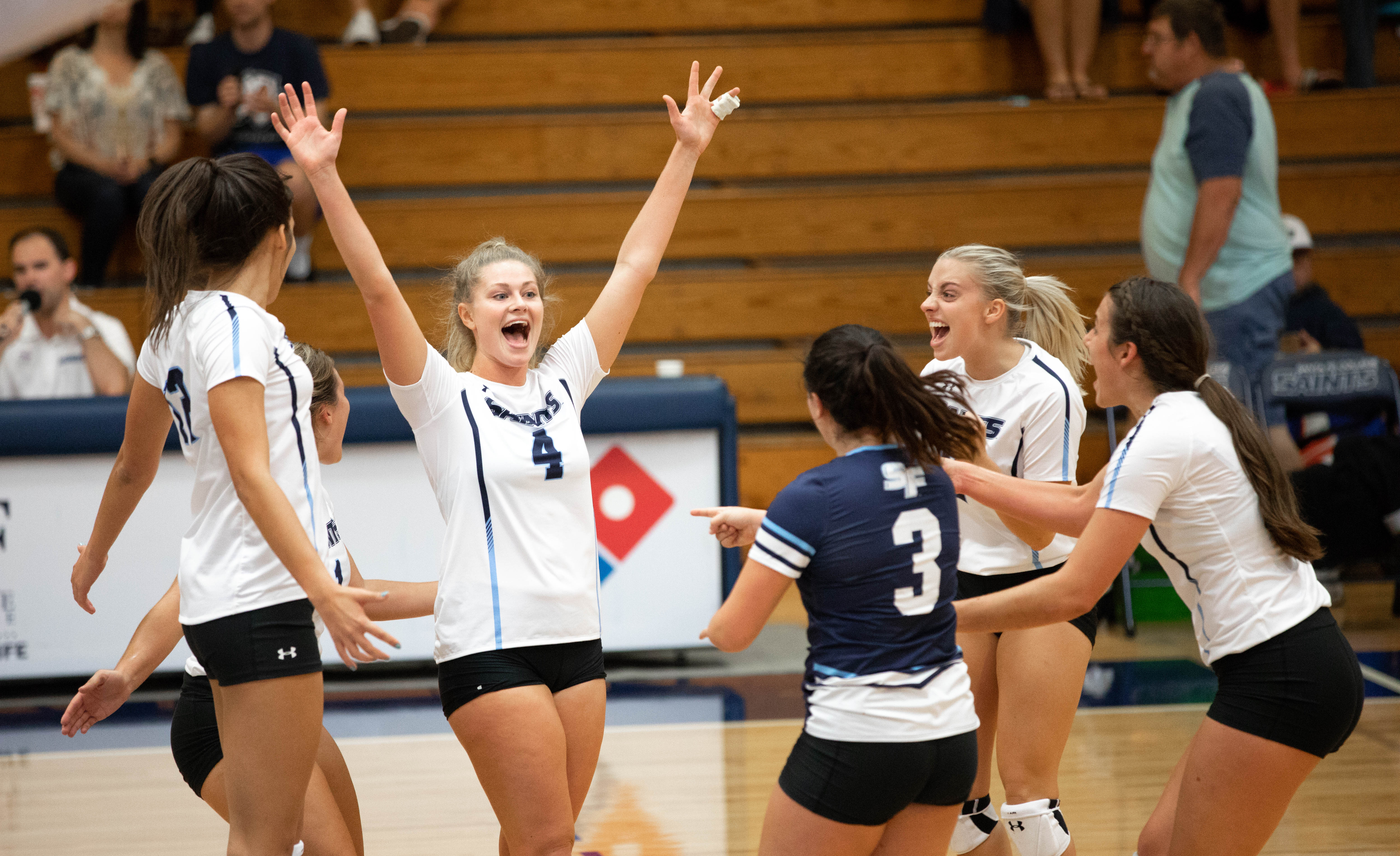 SF Volleyball: Saints Defeat Pensacola State College 3-0