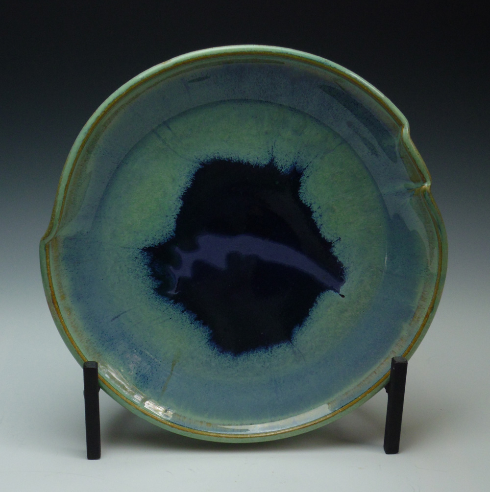 "Art from the Visual Arts Faculty Exhibit - Kate S. Murray's ""Platter with Wild Purple Streak"""