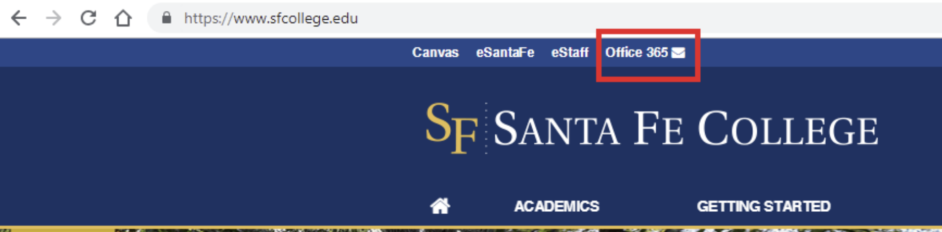 Changes to Your Office 365 Link on College Website | Today @ Santa Fe