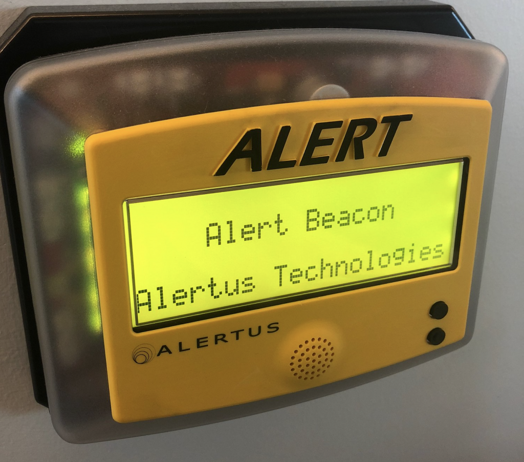 Alertus Beacon alarms are located in a few buildings across SF properties. They will be tested during ENS testing Tuesday, Dec. 18.