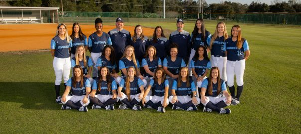 Santa Fe Saints softball team photo of players and coaches
