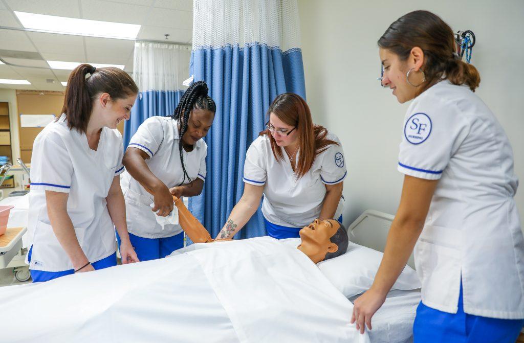Students in SF's Health Sciences Nursing program.