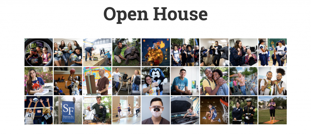 Open House Instagram-style pictures from SF webpage