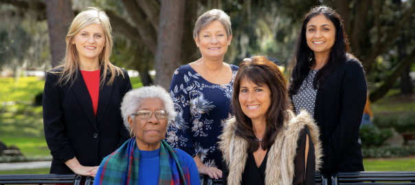 The 2019 Women of Distinction and Promise. Emily Acevedo (Woman of Promise), Gussie M. Lee, Linda Lee, Fran Maris and Nilanjana Sengupta Caballero. (not pictured, Carol Bosshardt)