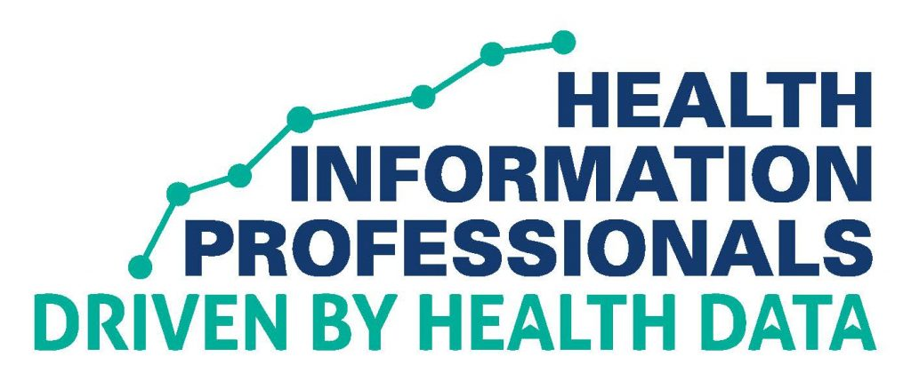 Health Information Professionals - Driven By Data words over a graph chart plotting points.