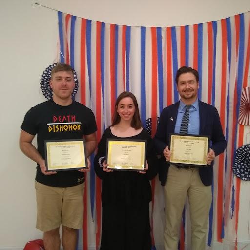 SF award-winning students Brandon Friend, Mya Webb and Jason King.