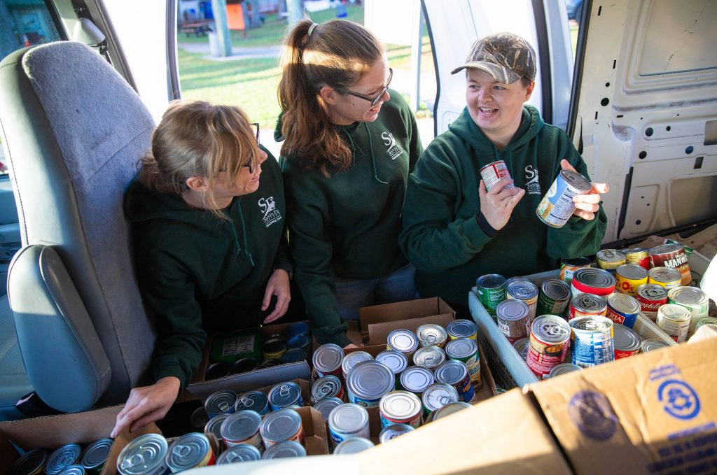 Cans collected at Boo at the Zoo