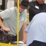 SF student John Thomas won third place in the secondary division at the SkillsUSA Automotive Service Training Competition.