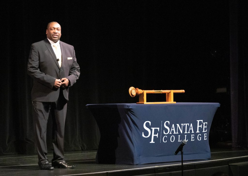 Dr. Paul Broadie during the Santa Fe College Spring Convocation at the Fine Arts Hall on Jan. 3, 2020