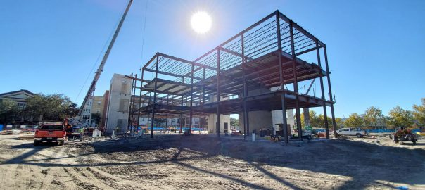 Crews from Parrish-McCall make progress on the expansion of the Blount Campus. Photos are courtesy of Parrish McCall, November 2020.